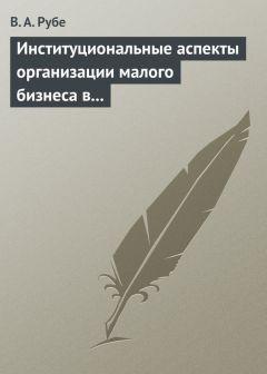 Вера Рубе - Институциональные аспекты организации малого бизнеса в развитых странах и в России. Учебное пособие
