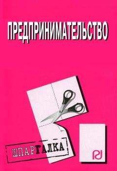 Коллектив авторов - Предпринимательство: Шпаргалка
